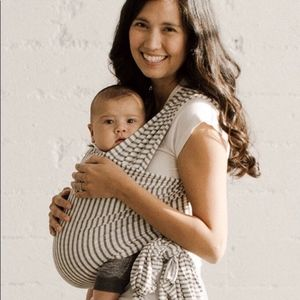 Solly Baby Wrap Carrier- Natural & Grey Stripe
